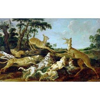 cuadros de fauna - Cuadro -Hunting Scene, 1640-1650 (Escena de caza)- - Snyders, Frans