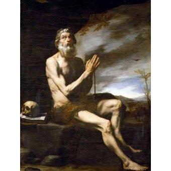 - Cuadro -San Pablo Ermitaño- - Ribera, Jose de