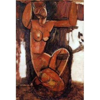 cuadros de bodegones - Cuadro -Cariátide-1- - Modigliani, Amedeo