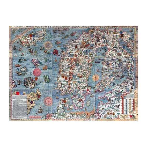 cuadros de mapas, grabados y acuarelas - Cuadro -Carta Marina, Edited-