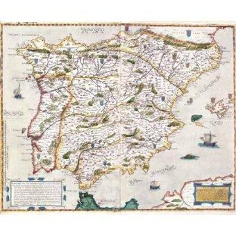 cuadros de mapas, grabados y acuarelas - Cuadro -España antiguo-1 - - Mapas antiguos - Anciennes cartes
