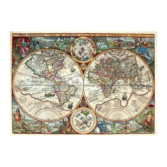 cuadros de mapas, grabados y acuarelas - Cuadro -1594, Orbis Plancius-