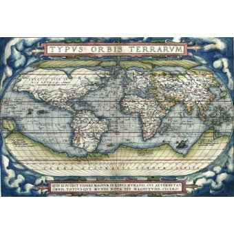 - Cuadro -Ortelius World Map, 1570- - Mapas antiguos - Anciennes cartes