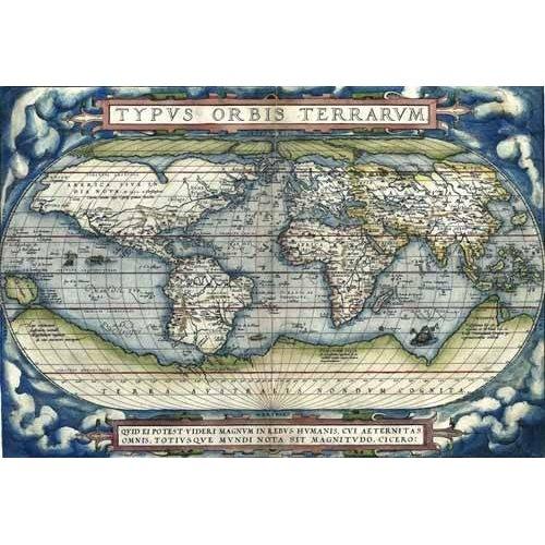 cuadros de mapas, grabados y acuarelas - Cuadro -Ortelius World Map, 1570-