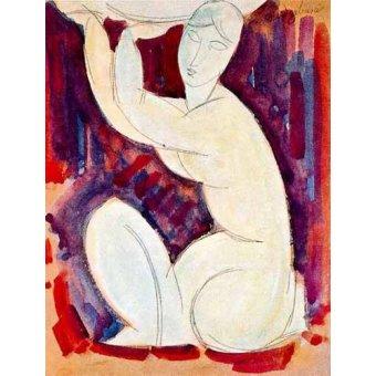 cuadros de bodegones - Cuadro -Cariatide-0- - Modigliani, Amedeo