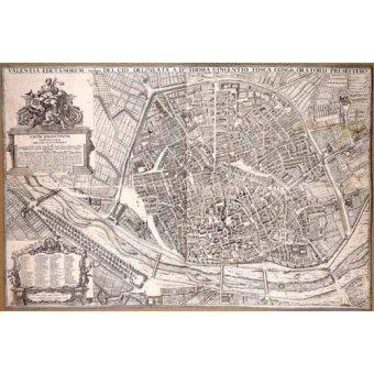 - Cuadro -Plano de Valencia del Padre Tosca, 1704- - Mapas antiguos - Anciennes cartes