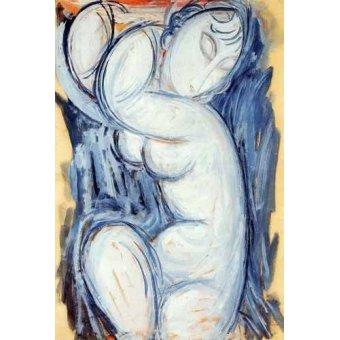 cuadros de bodegones - Cuadro -Cariátide-5- - Modigliani, Amedeo