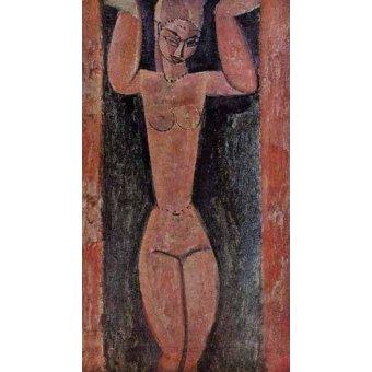 cuadros de bodegones - Cuadro -Cariátide-2- - Modigliani, Amedeo