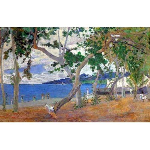 cuadros de marinas - Cuadro -Sea shore, 1887-