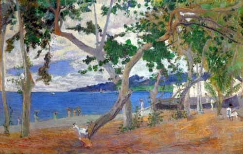 cuadros-de-marinas - Cuadro -Sea shore, 1887- - Gauguin, Paul