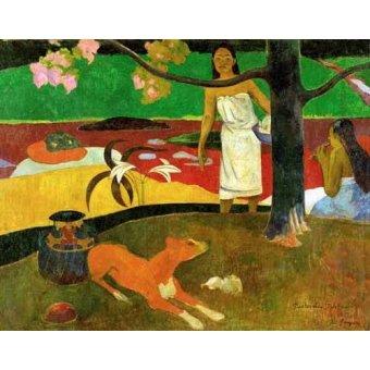 - Cuadro -Tahitian Idyll- - Gauguin, Paul