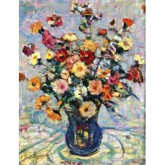 - Cuadro -Bodegón con flores- - Prendergast, Maurice