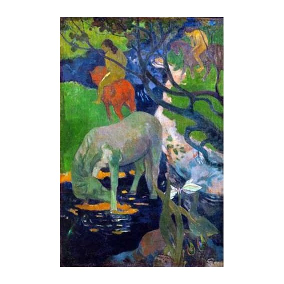 cuadros de paisajes - Cuadro -Caballo Blanco, 1898-