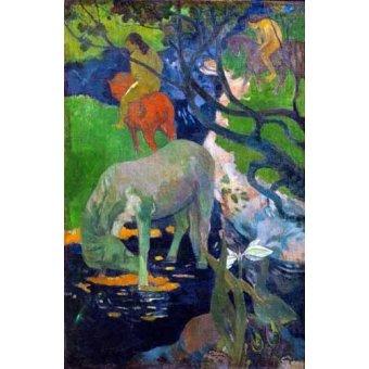 - Cuadro -Caballo Blanco, 1898- - Gauguin, Paul