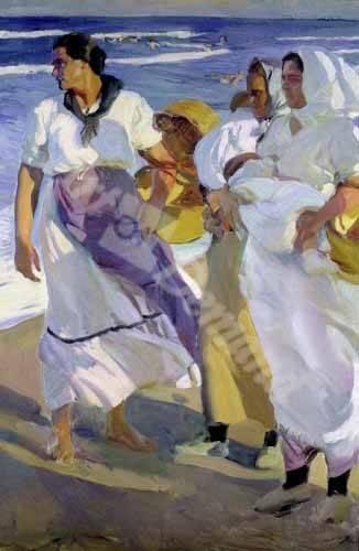 cuadros-de-retrato - Cuadro -Pescadoras valencianas, 1915- - Sorolla, Joaquin