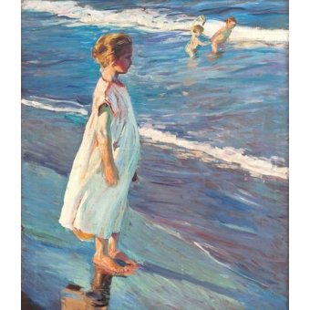 cuadros de retrato - Cuadro -Niña en la playa- - Sorolla, Joaquin