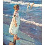 Cuadro -Niña en la playa-
