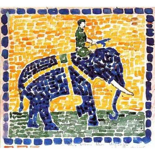 Cuadro -Elefante-