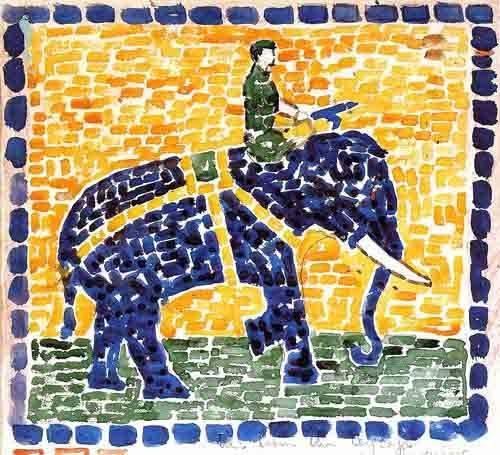 cuadros-decorativos - Cuadro -Elefante- - Prendergast, Maurice