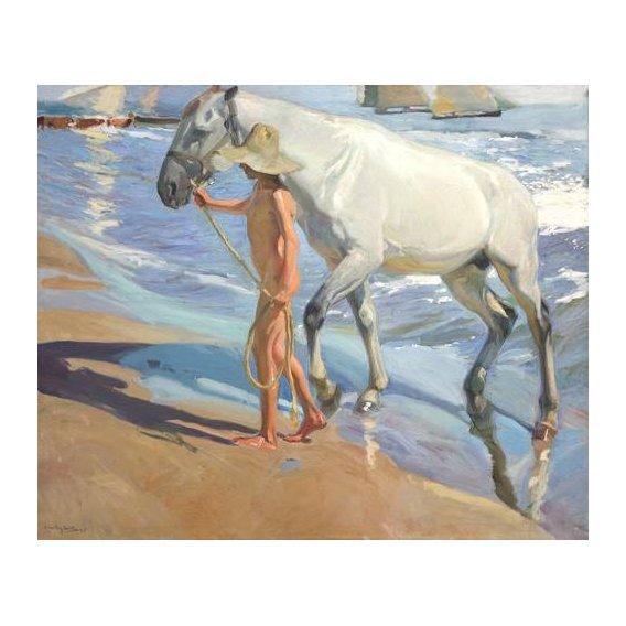 cuadros de fauna - Cuadro -El bano del caballo-