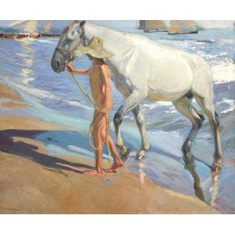 - Cuadro -El bano del caballo- - Sorolla, Joaquin