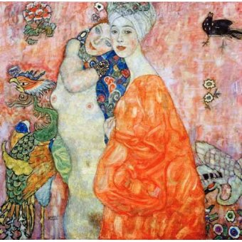 cuadros de retrato - Cuadro -Girlfriends - - Klimt, Gustav