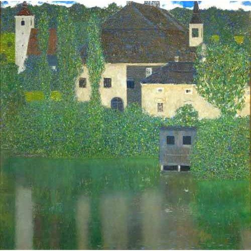 cuadros de paisajes - Cuadro -Schloss Unterach am Attersee-