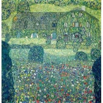 - Cuadro -Landhaus am Attersee- - Klimt, Gustav