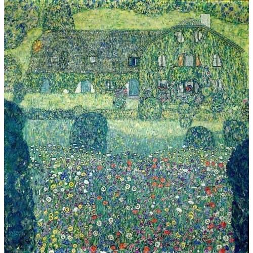 cuadros de paisajes - Cuadro -Landhaus am Attersee-
