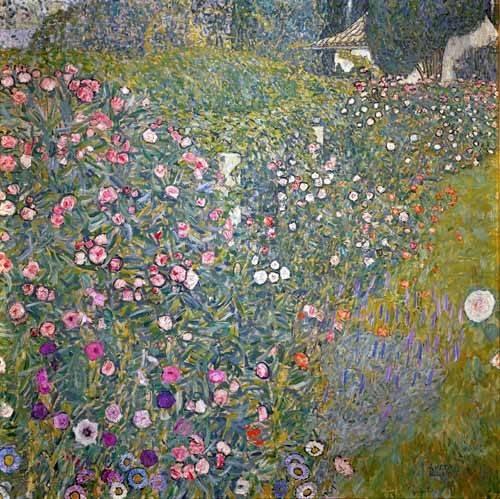 cuadros-de-paisajes - Cuadro -Jardin italiano- - Klimt, Gustav