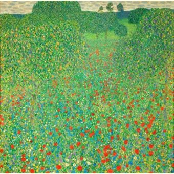 - Cuadro -A field of poppies- - Klimt, Gustav