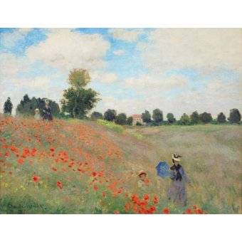 - Cuadro -Wild Poppies, near Argenteuil- - Monet, Claude