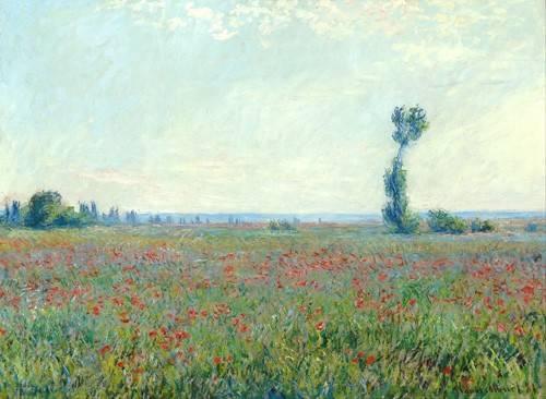 cuadros-de-paisajes - Cuadro -The Poppy Field near Giverny- - Monet, Claude