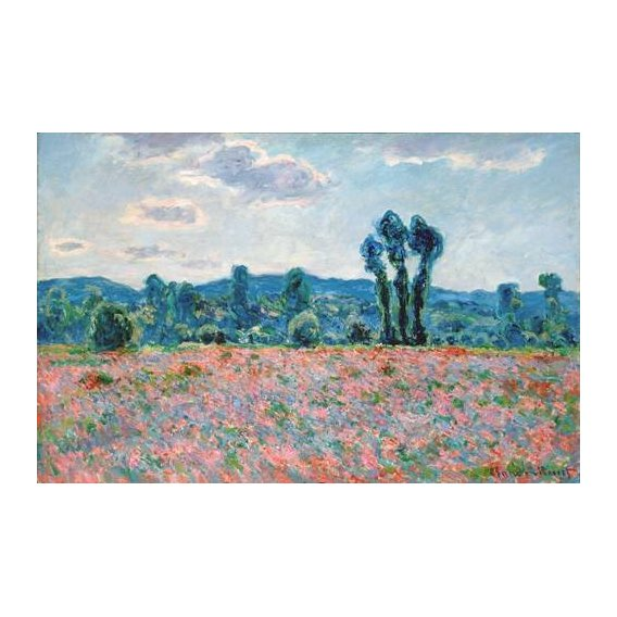 cuadros de paisajes - Cuadro -Poppy Field, 1887 (oil on canvas)-