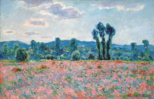 cuadros-de-paisajes - Cuadro -Poppy Field, 1887 (oil on canvas)- - Monet, Claude