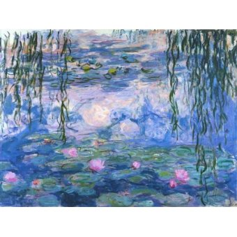 Hall - Cuadro -Waterlilies, 1916-19- - Monet, Claude