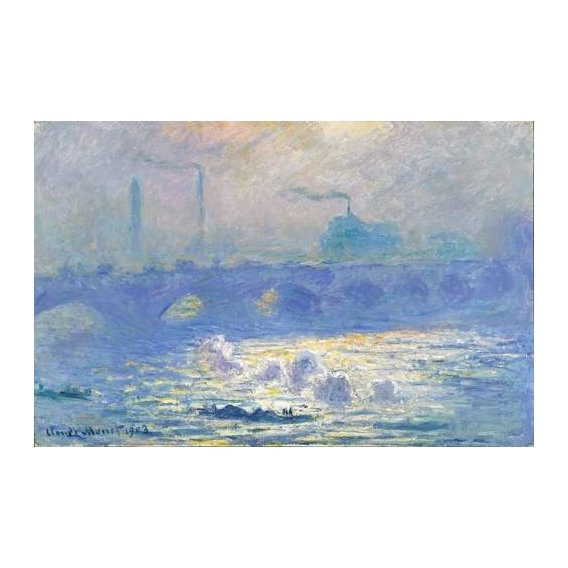 cuadros de paisajes - Cuadro -Waterloo Bridge, Effect of the Mist, 1903-