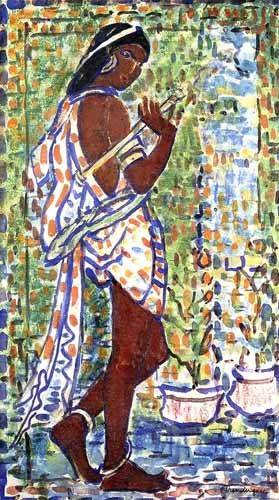 cuadros-decorativos - Cuadro -Bailarina Hindú- - Prendergast, Maurice