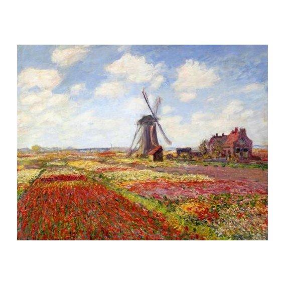 cuadros de paisajes - Cuadro -Tulip Fields with the Rijnsburg Windmill, 1886-