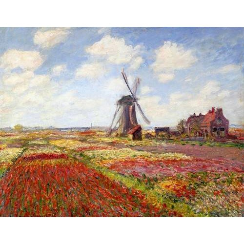 Cuadro -Tulip Fields with the Rijnsburg Windmill, 1886-