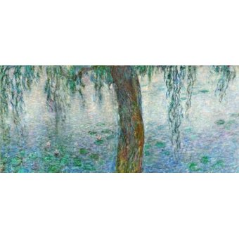 Cuadro -Waterlilies, Morning with Weeping Willows, (right section)-