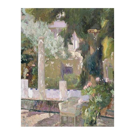 cuadros de paisajes - Cuadro -Los jardines de la casa familiar, 1920-