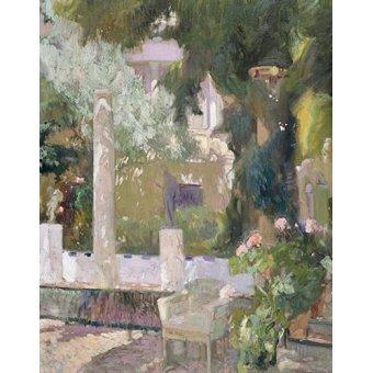 - Cuadro -Los jardines de la casa familiar, 1920- - Sorolla, Joaquin