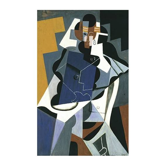 cuadros abstractos - Cuadro -Figure of a Woman, 1917-
