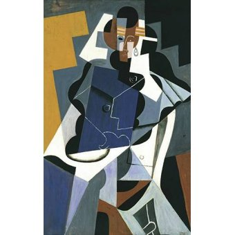 cuadros abstractos - Cuadro -Figure of a Woman, 1917- - Gris, Juan