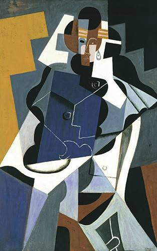 cuadros-abstractos - Cuadro -Figure of a Woman, 1917- - Gris, Juan