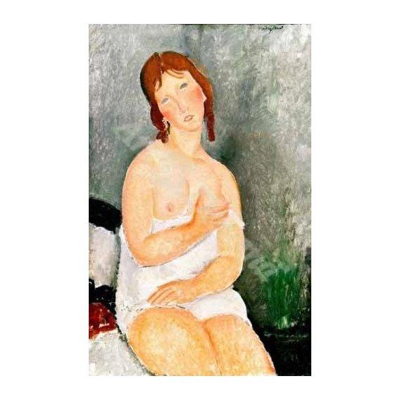 cuadros de retrato - Cuadro -Jeune femme assise-