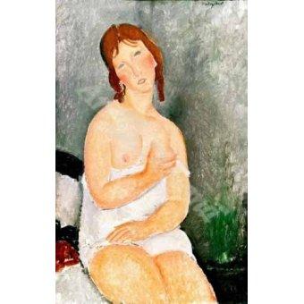 cuadros de desnudos - Cuadro -Jeune femme assise- - Modigliani, Amedeo