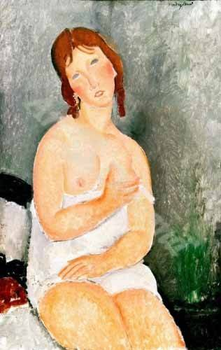 cuadros-de-retrato - Cuadro -Jeune femme assise- - Modigliani, Amedeo