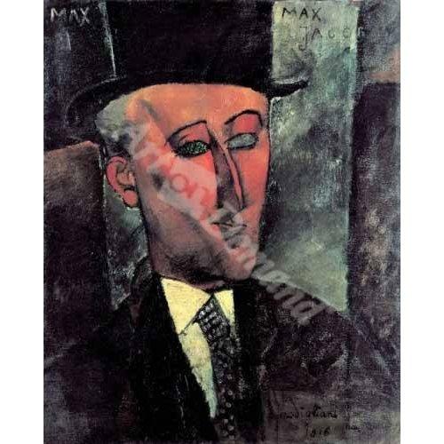 cuadros de retrato - Cuadro -Portrait de Max Jacob-